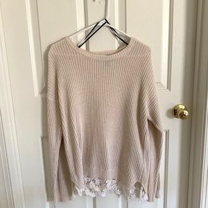 Forever 21 Cream Lace Sweater